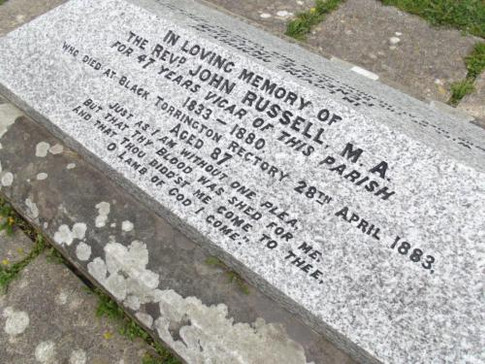 Gravestone of John Russell the Founder of the bread