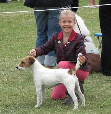 Jessica enjoying handing in breed classes