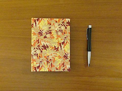 Handmade Casebound Notebook - Leaves 100% Cotton - Blank Paper