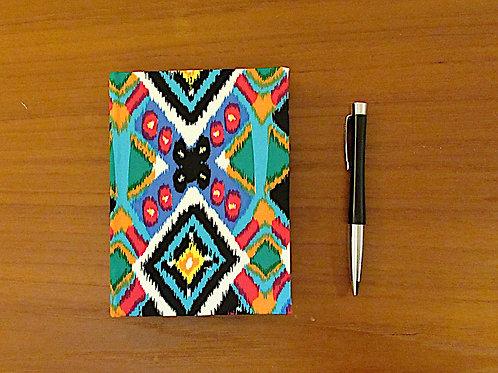 Handmade Casebound Notebook - Vivid Design 100% Cotton Cloth - Blank Paper