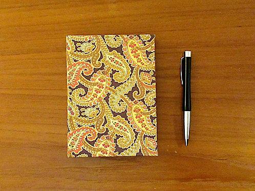 Handmade Casebound Notebook - Ferns 100% Cotton - Blank Paper