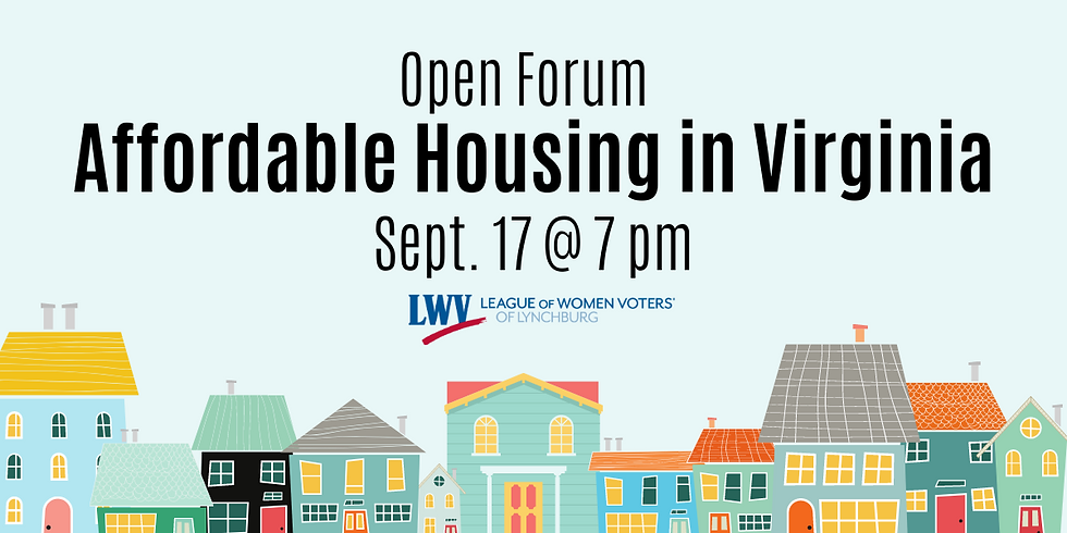 Affordable Housing in Virginia, Open Forum
