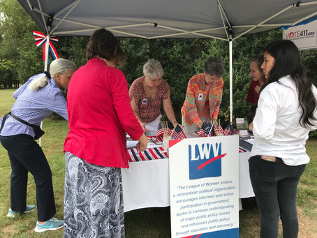 The LWV Lynchburg Registers New Voters