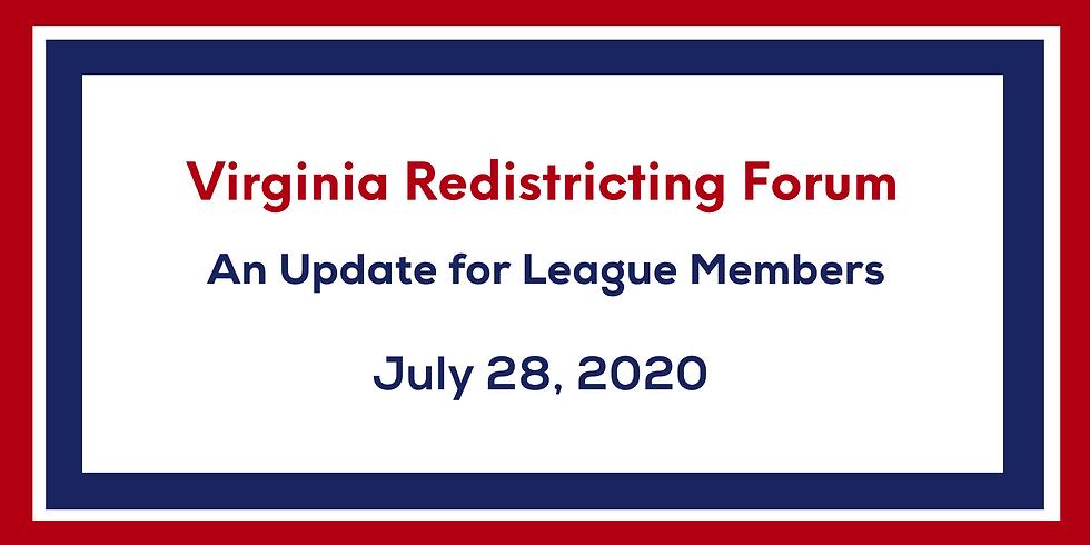 Virginia Redistricting Forum: An Update for Members