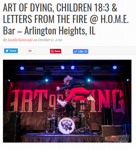 Art Of Dying Children 18 3 Letters From The Fire H O M E Bar