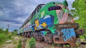 Abandoned Graffitied Train Photo Shoot