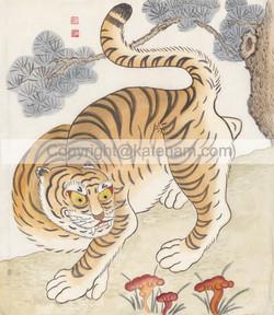 Tiger under pine tree (2016)