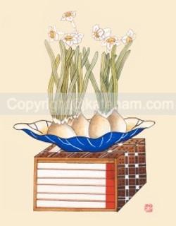 Daffodils on books (2016)