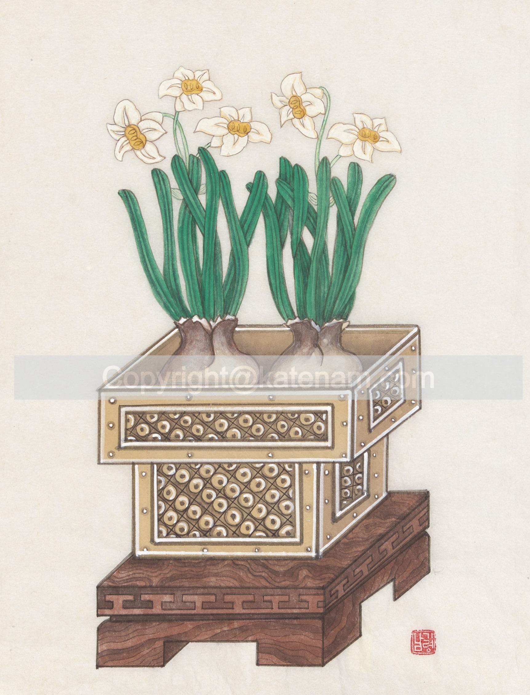 Daffodils on tray (2016)