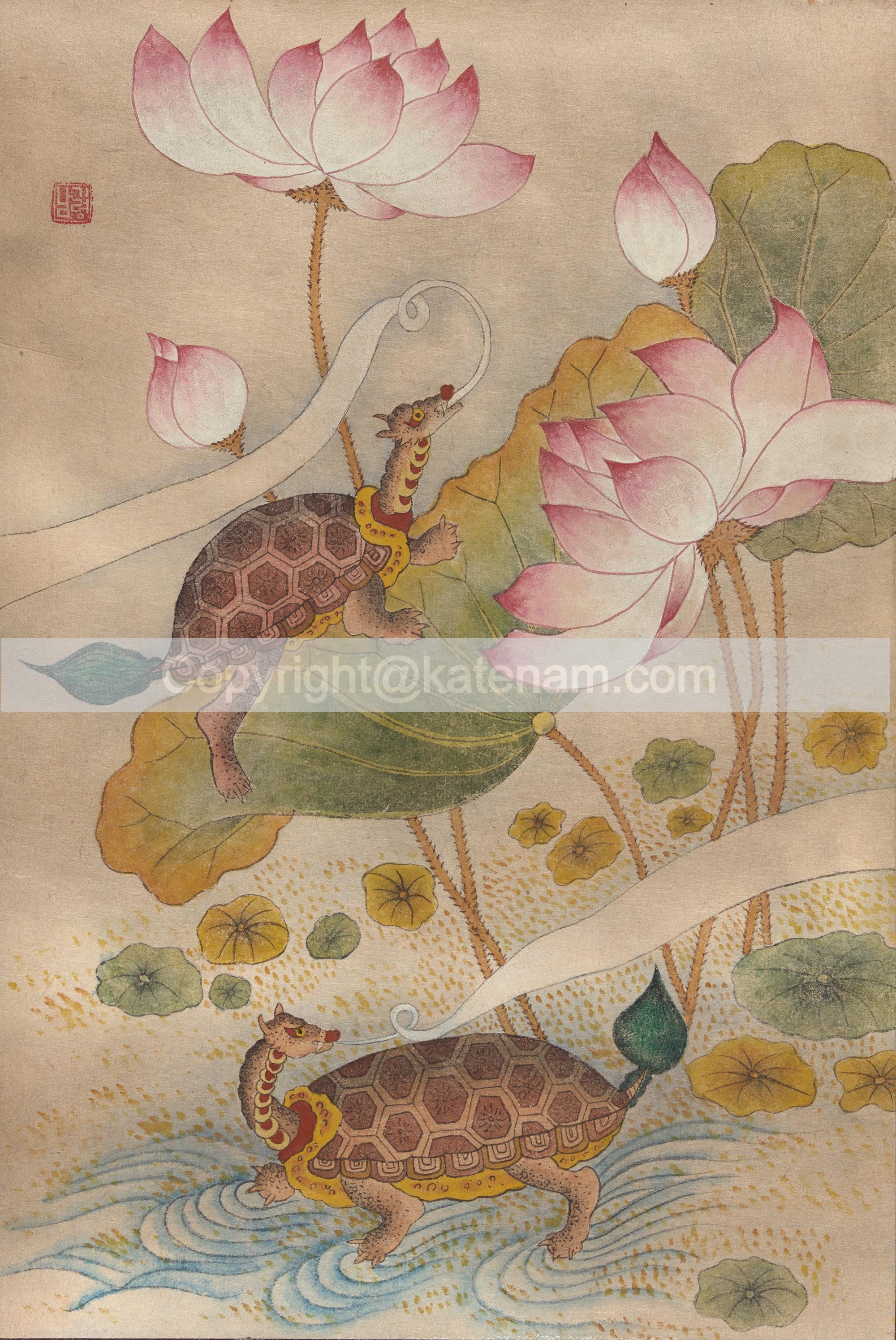 Lotus with turtles (2010)