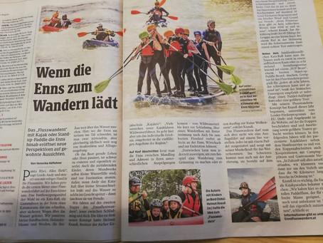 ENNSFLUSSWANDERN - Bericht Kleine Zeitung