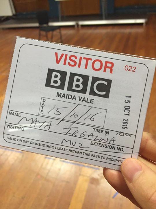 Woohoo! Rehearsing Tchaikovsky Project in the BBC Studios Maida Vale.