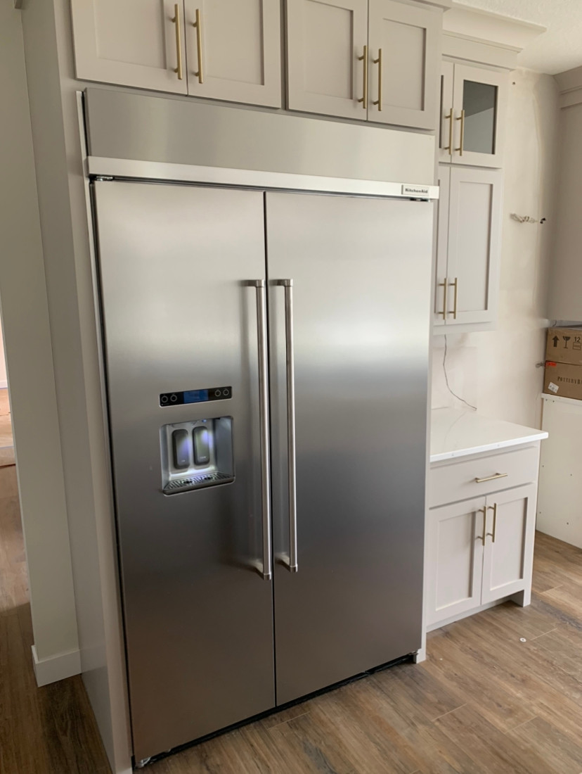 Fridge installation | Pinnacle Interior Designs