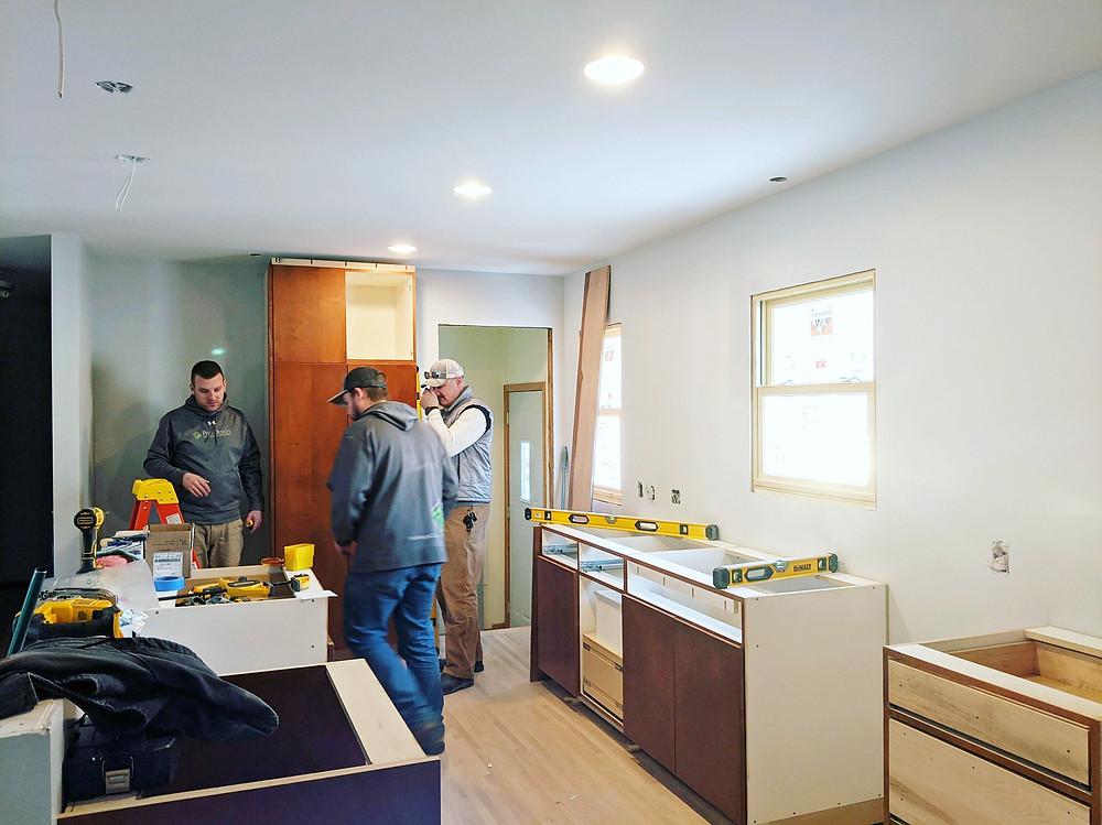 Cabinets Arrive | Pinnacle Interior Designs