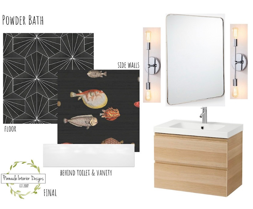 Powder Bathroom Mood Board | Pinnacle Interior Designs