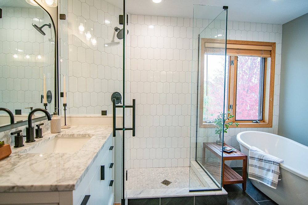Master Bathroom After | Pinnacle Interior Designs