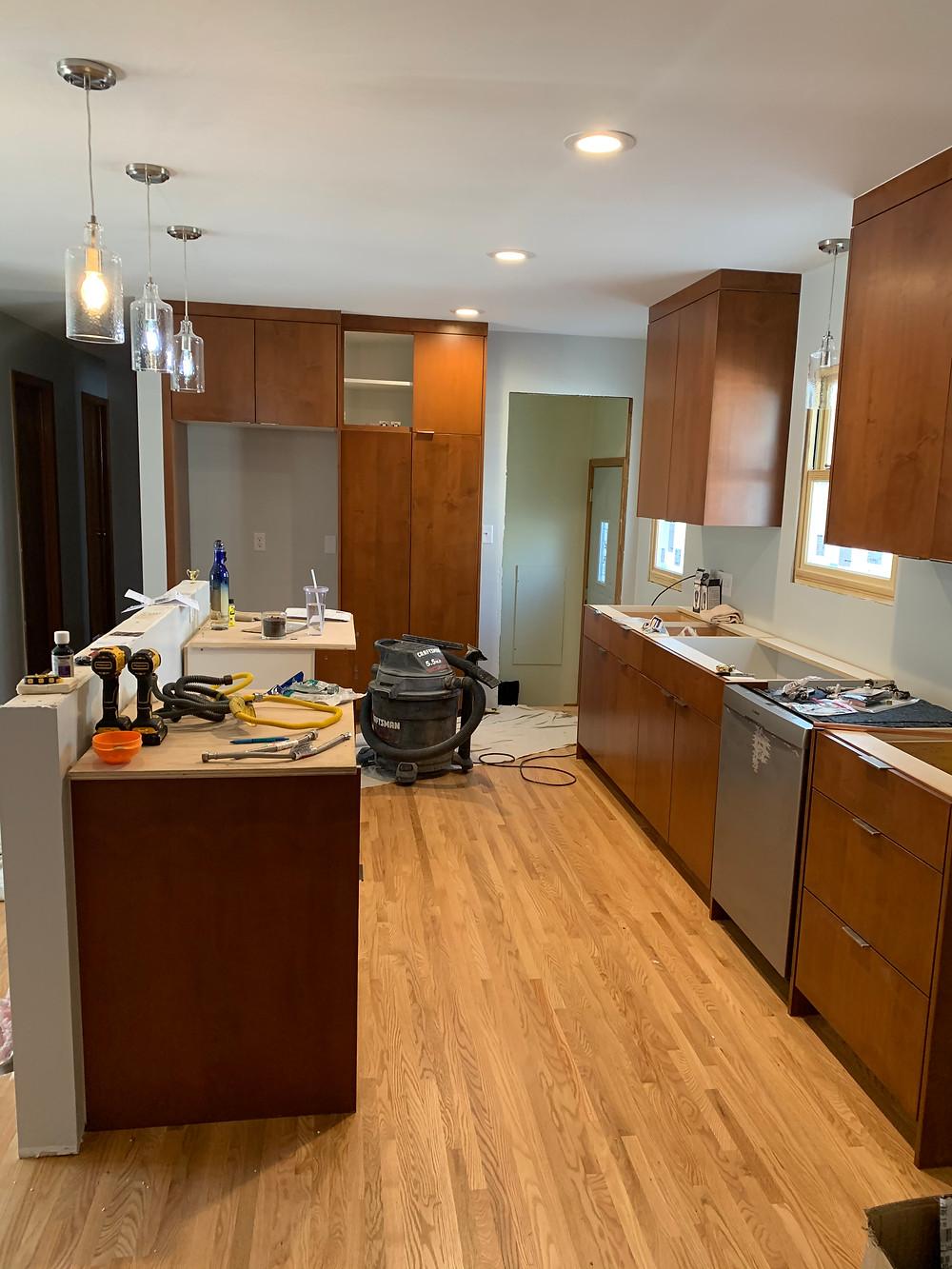 Cabinet Progress | Pinnacle Interior Designs