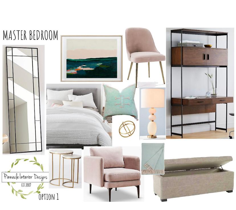 Master Bedroom E-Design Mood Board