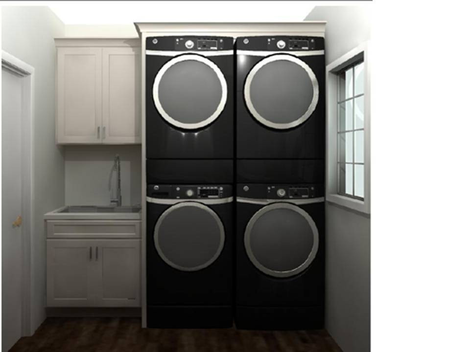 Double Unit Laundry Elevation | Pinnacle Interior Designs