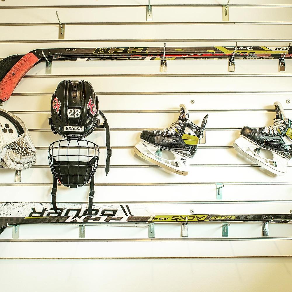 Hockey storage | Pinnacle Interior Designs