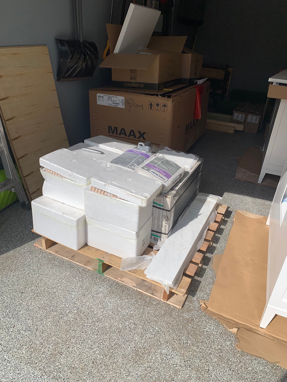 Tile delivered and accounted for | Pinnacle Interior Designs