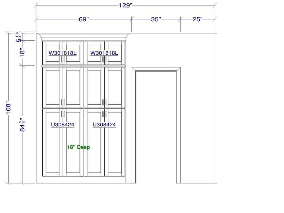 Pantry wall elevation | Pinnacle Interior Designs