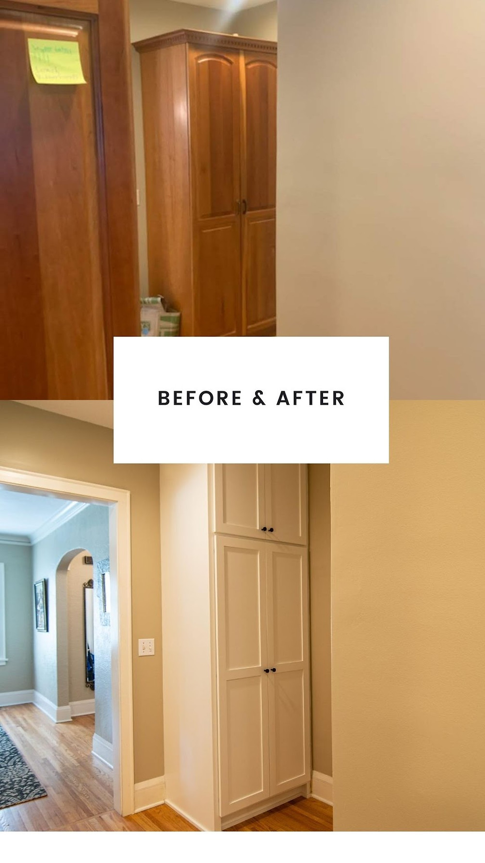 Pantry Before and After | Pinnacle Interior Designs