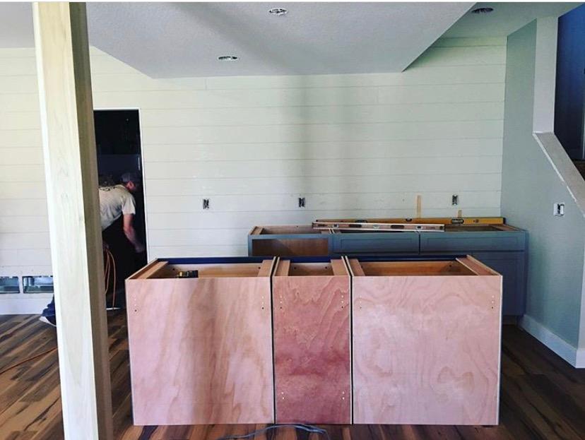 Modern Farmhouse Basement    Pinnacle Interior Designs