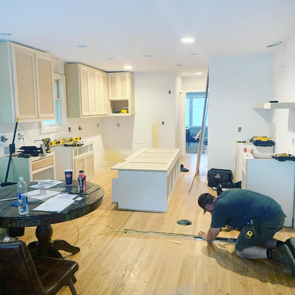 Kitchen During Remodel | Pinnacle Interior Designs