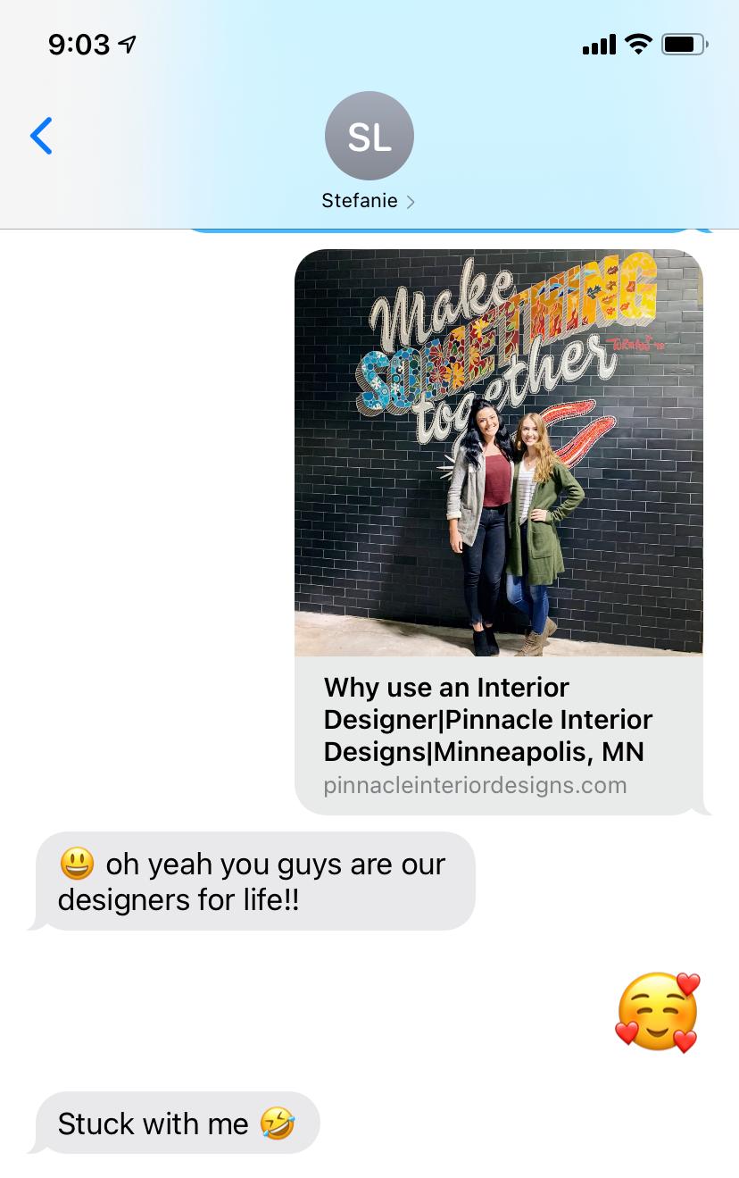 Client Text   Pinnacle Interior Designs