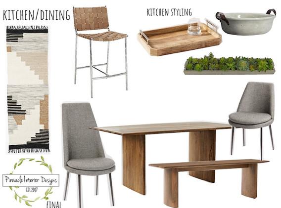 Dining Room E-Design Mood Board