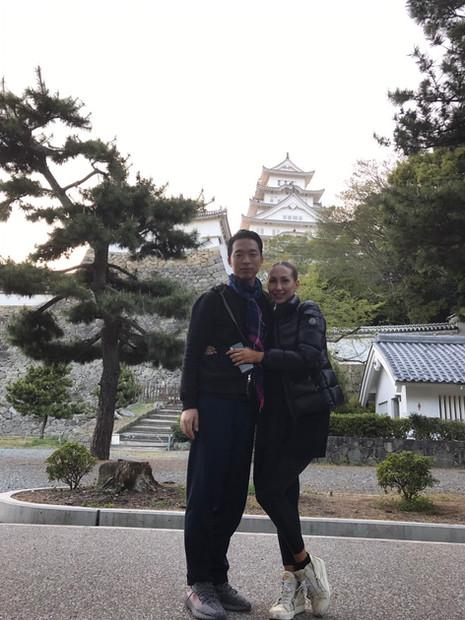 姫路城にて