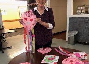 VNA Volunteers Share Love with Valentine's Day Art