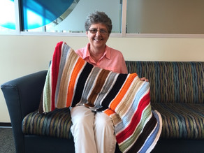 VNA volunteer crochets prayer blankets to bring comfort to hospice patients
