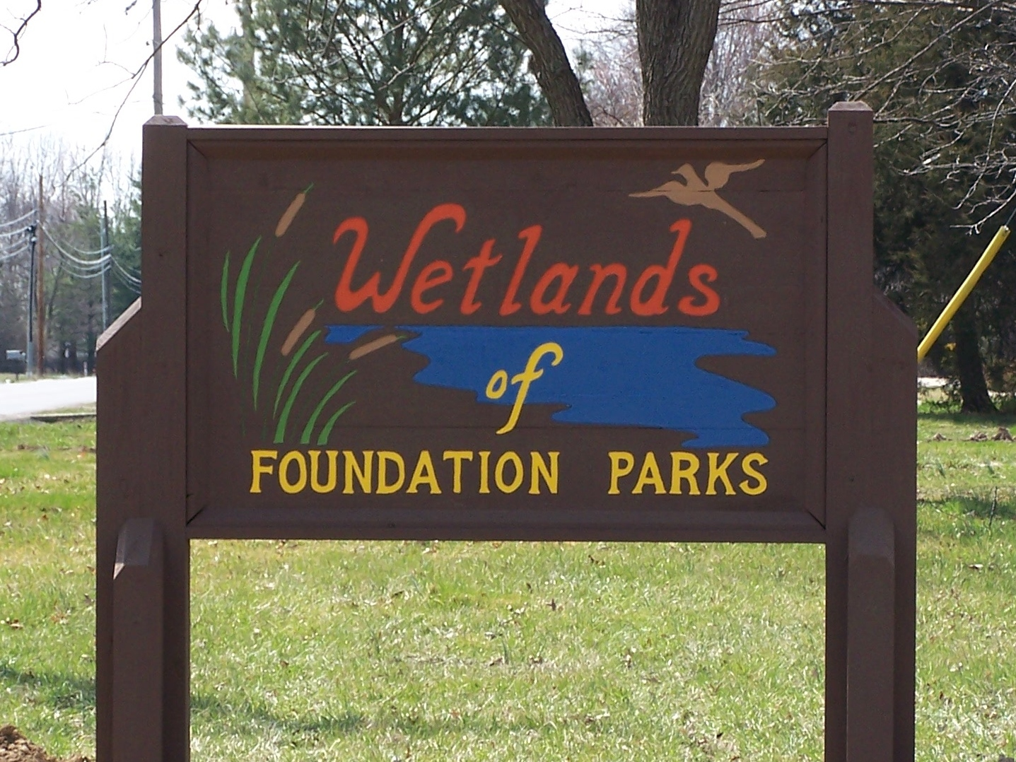 Entry sign to the Wetlands