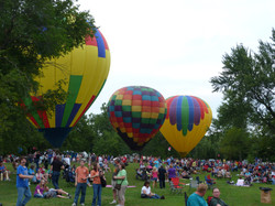 Visitors up-close with Balloons