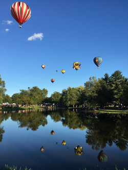 Balloons over the pond