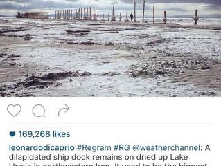 ابراز نگرانی لئوناردو دیکاپریو از خشک شدن دریاچه ارومیه