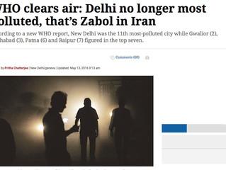 سازمان بهداشت جهانی: زابل آلودهترین هوای جهان را دارد