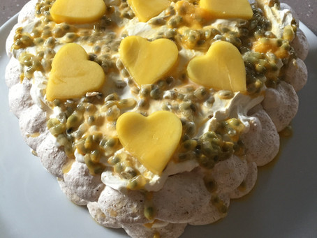 Coconut and Passionfruit Meringue Cake