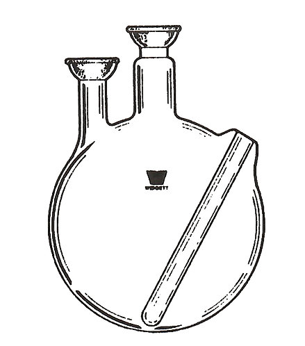 2 Neck Flask (SJ) Vertical, Flush Thermowell