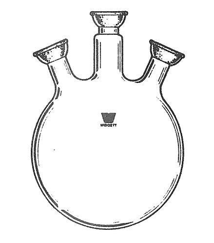 3 Neck Flask (SJ) Angled