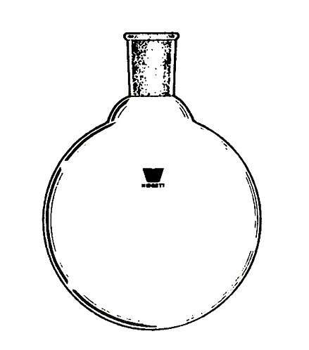 1 Neck Flask [ST] Round Bottom