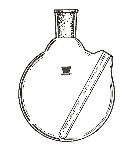 1 Neck Flask [ST] Round Bottom, Flush Thermowell