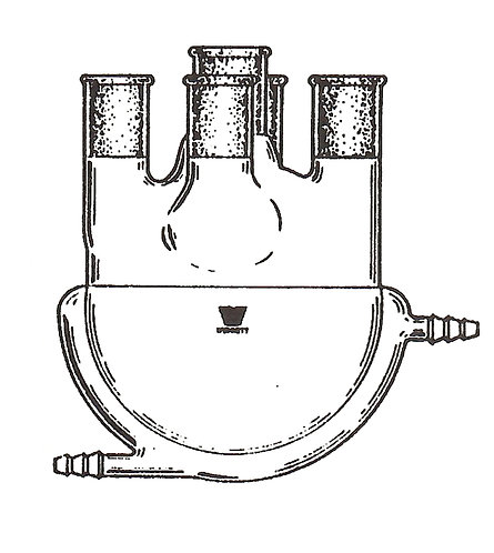 5 Neck Flask [ST] Vertical, Jacketed