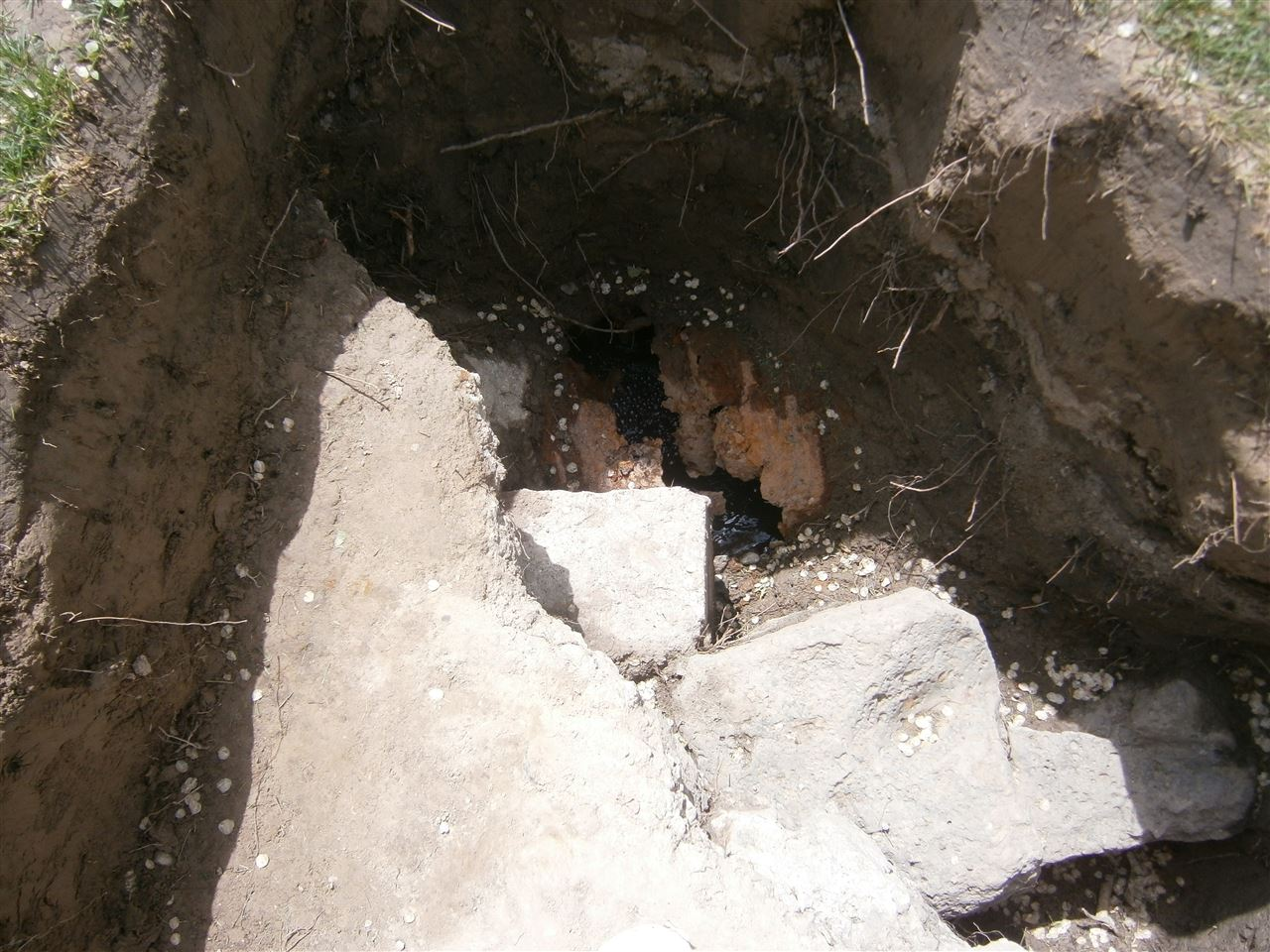 Culvert under footing needed replaced..jpg