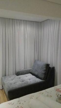 cortina no trilho curvo