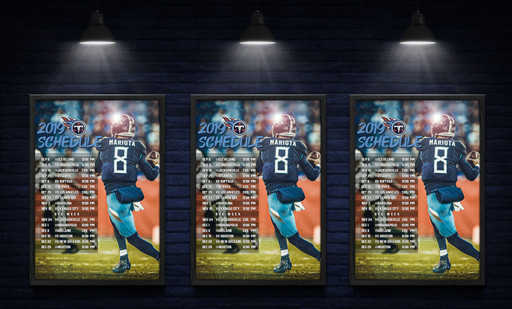 Tennessee Titans Schedule Graphic