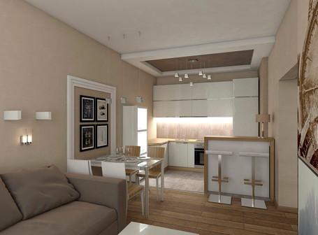 Дизайн проект малогаборидной квартиры