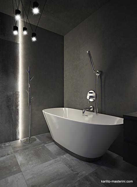 Дизайн проект ванной комна